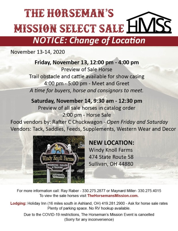 The Horseman's Mission Select Sale flier